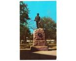 Vintage postcard last stand statue de leon park victoria texas tx thumb155 crop