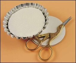 "Tart Tins Small 1.5"" 4/pkg framing cross stitch accessory  - $6.00"