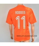 Netherlands #11 ROBBEN World Cup 2014 Home Soccer Jersey Football Shirt New  - $28.90