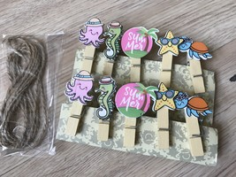 60pcs Seaanimals Children's Party Gift Favors,Paper Clips,Pegs,Wood Clot... - $11.50