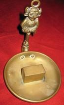 Antique Old Brass Lincoln Imp Devil Hanging Vesta Matchbox Holder image 3