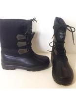 YUKON Avalanche Wm Black Canvas Leather Rubber ... - $9.79