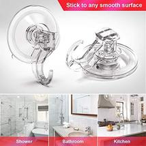 Suction Hooks LUXEAR Vacuum Suction Cup Hook 4 Pack New Design Towel Hooks for B image 2