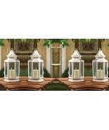 4 White Victorian Candle Lanterns - $25.50