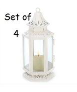 4 White Victorian Candle Lanterns - $60.00