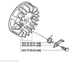 503824302 Flywheel Husqvarna Chainsaw 366xpg 346 G Xpg - $219.99