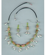 Belly Dance Necklace set, Beaded with Bells, #9Sc3-11, Free  - $10.99