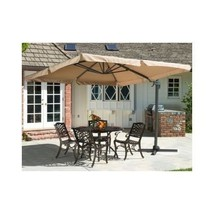 Patio Canopy Umbrella Offset Shade Folding Party Waterproof Large Market... - $272.22