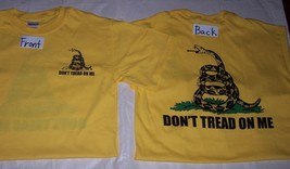 Gadsden Don't Tread on Me Tea Party T-Shirt 2 Sided NEW SMALL - $10.15