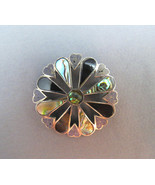 VTG Taxco Brooch 925 Silver 5g JD Mexico Inlaid... - $24.74