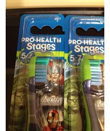6 Oral B AVENGERS Toothbrushes Sealed Stage 3 (5-7 Years Old) NEW UNOPENED - $15.44