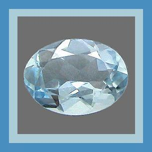 Natural Blue AQUAMARINE 1.00ct Oval Faceted Loose Gemstone