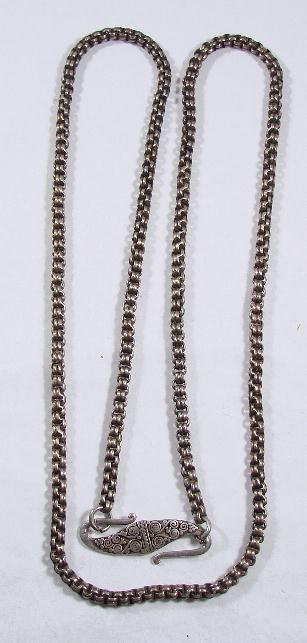STERLING DOUBLE LINK CHAIN