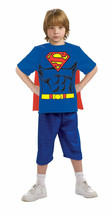 Officially Licensed Superman Shirt w/CAPE Child Halloween Costume Large 12-14 - $17.49