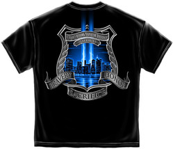 New Police 9 11 Twin Towers Tribute T Shirt - $17.81+
