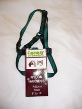 Formay Nylon Pet Harness 3/8 Inch Dog or Cat Green W Black  8 to 14 Inch - $12.86