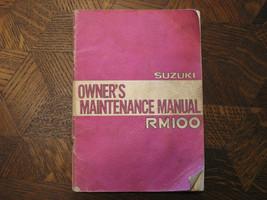 79 Suzuki RM100 Rm 100 Original Oem Owner's Driver's Wartungshandbuch - $88.09