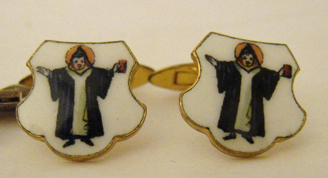 VINTAGE ENAMEL CUFF LINKS