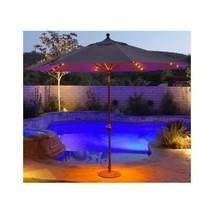 contemporary Shade Patio Umbrella outdoor deck porch pool sunbrella LED ... - $613.79