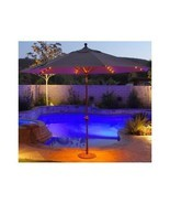 contemporary Shade Patio Umbrella outdoor deck porch pool sunbrella LED ... - $613.79