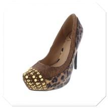 NIB Sz 8 MSRP $99 Penny Loves Kenny Platform Leopard Stiletto Heels Spik... - $44.99