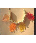 OAK LEAF LEAVES NECKLACE Fall Tree Thanksgiving Jewelry - $8.99