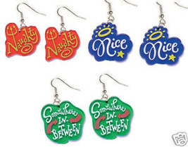 Funky Naughty Nice Earrings Diva Princess Jewelry~Set 3 - $16.99