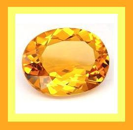Citrine oval smaller 7.28x5.48 1.25ct