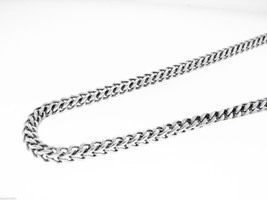 """Men's Cuban Polished stainless steel Steel 6mm wide Necklace Chain 40"""" i... - £59.77 GBP"""