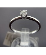 14K WG 0.19CT 1 Diamond Round Solitaire Engagement Ring Size 6.5 G/H SI ... - $371.50