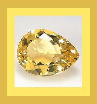 Citrine pear lighter 9.4x6.8 1.50ct