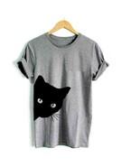 Black Cat - Peeking Cat Adult T-Shirt - $17.74 - $20.56