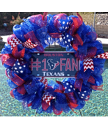 Houston Texans Deco Mesh Wreath - Texans - Texans Wreath - Texans Door D... - $65.00