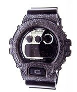 Casio G Shock Black Stainless Steel black Full Case Cz Crystal Dw6900 si... - $371.50