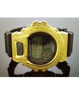 Men's Casio G Shock High quality CZ Yellow crystal Watch Yellow case bla... - $277.45