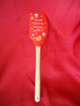 Funny Silicone/Wood  Spatula Eat Well Today For Tomorrow We Diet - $9.75