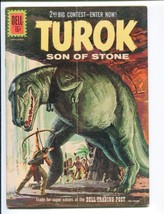 Turok Son Of Stone #25-DELL-1961-DINSOSAUR Cover And STORIES- Rare Vg - $37.25