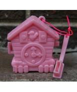 HTF Vtg Hello Kitty Cuckoo Clock Toothbrush Case Pink Mini 80s Good Morn... - $38.69