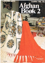 Leisure Arts Leaflet 102 Afghan Book 2 Knit and Crochet Patterns - $8.99