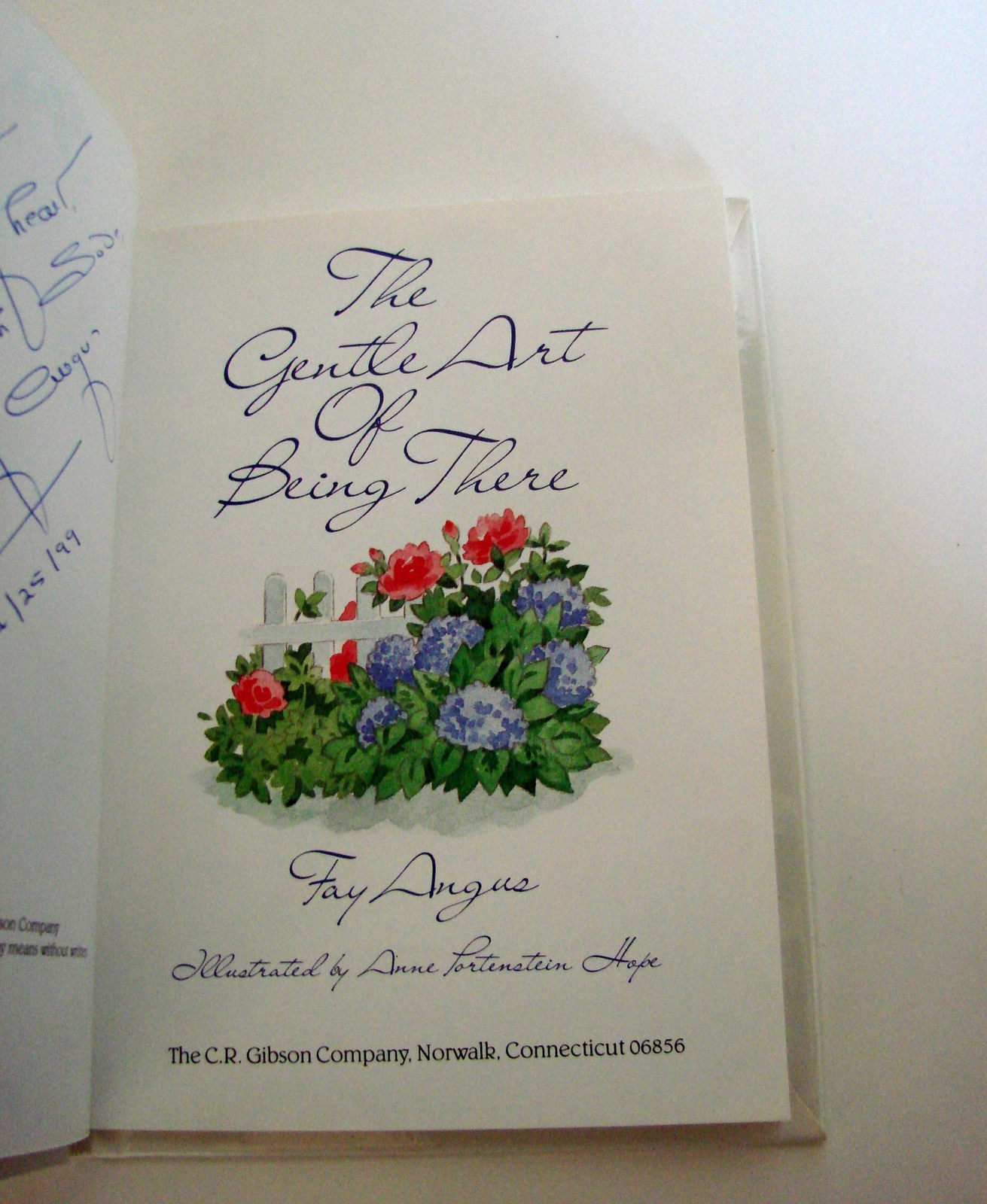 The Gentle Art of Being There (Hardcover) by Fay Angus (Author) Signed