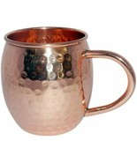 100% pure moscow mule mug hammered Vodka Beer mug Handmade Solid 16 Oz - $20.35
