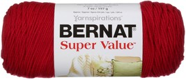 Bernat Super Value Solid Yarn-Cherry Red - $10.09