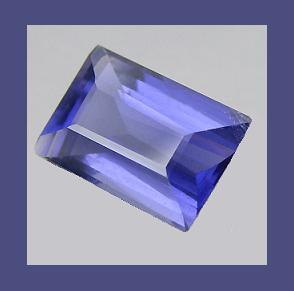 Natural IOLITE 0.40ct Emerald Cut Faceted Loose Gemstone