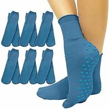 Vive Non Slip Hospital Socks 6 - Anti Skid Rubber Grip - Yoga for Men, Women