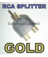 RCA Composite Splitter 2x Female / 1x Male Gold Plated - $0.99