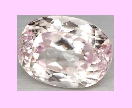 14.00ct Natural Pink KUNZITE Oval Cut Faceted Loose Gemstone