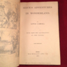 Alice's Adventures in Wonderland Lewis Carroll, 1867 1st/2nd -signed - $2,500.00