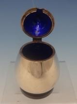 Evald Nielsen Danish Sterling Silver Mustard Pot w/Cobalt Blue Enamel (#... - $418.10
