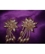 Vintage Jewelry  Imitation Pearl Clip Earrings 2 Pair - $18.00