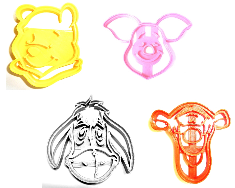 Primary image for Winnie The Pooh Tigger Eeyore Piglet Set Of 4 Cookie Cutters USA PR493